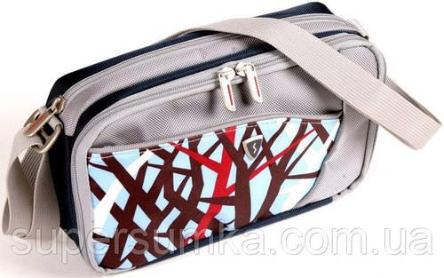 Женская молодежная сумка на плечо Sumdex PJA-677TW белый с голубым