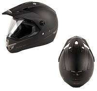 Кроссовый шлем с визором черный матовый Nitro MX 630 SATIN Black