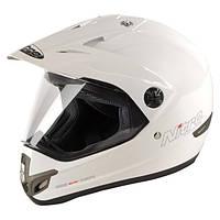 Кроссовый шлем с визором Nitro MX630 WHITE