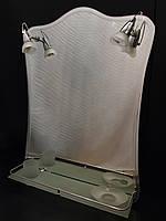 Зеркало 550*750 мм с фацетом, полочкой и светильниками для ванной