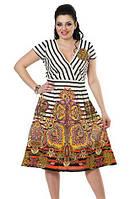Летнее платье, 100% хлопок, размеры 46,48,50