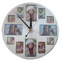 Часы круглые с фоторамками