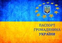 Кожаная обложка на паспорт Украины