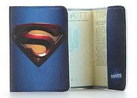 Обложка на паспорт Супермен натуральная кожа