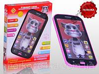 Детский телефон говорящий 3D Кот Том Talking Tom
