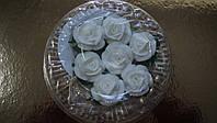 """Набор """" Розы с листочками"""" 7 шт. белые d25(код 03014)"""
