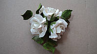 """Букет """"Розы белые"""" d160 3шт. (код 03018)"""