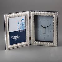 "Часы ""Капельки"" 22х17 см, с местом для фото 13х18 см"