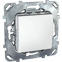 Выключатель одноклавишный белый Schneider Electric - Unica (Шнейдер Электрик Уника mgu3.201.18)