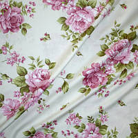 Ткань в стиле прованс regalizo розы фрез испания