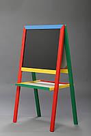 Мольберт для рисования -доска магнитная для рисования мелом и фломастером + мольберт (напольная)