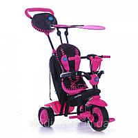 Детский трёхколёсный велосипед 4 в 1 Smart Trike Spark розово-чёрный