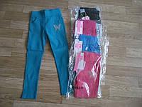 Котоновые стрейчевые брюки - лосины для девочек