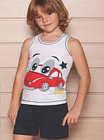 """Летняя пижама для мальчика 4-10 лет, """"Веселая машинка"""", Berrak"""