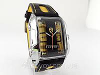 Мужские  часы  FERRARI - GT желтые, механика с автозаводом, цвет корпуса серебро