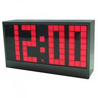 Электронные настольные часы vst 2192-1, с уникальным дисплеем, красные цифры, будильник, таймер, 25х15х5 см