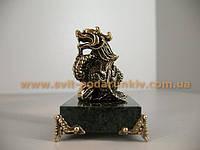 Скульптура бронзовый Дракон с жемчужиной