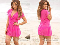 Пляжная туника розовая