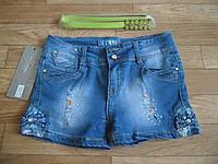 Джинсовые стрейчевые шорты для девочек