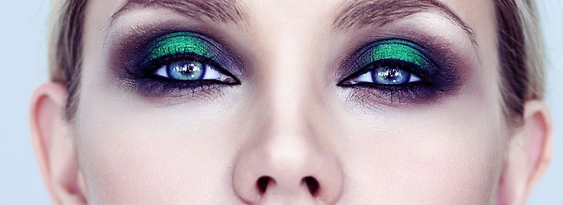 Макияж к голубым глазам и темным волосам фото