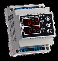 Двухканальный регулятор температуры тк-6 (20а) на din-рейке для тэновых котлов и морозильных камер