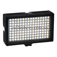 Купить Cветодиодный накамерный свет LED-144AS (с регулятором температуры) + батарея и зарядка + Сервис 6 месяц