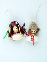 Украинский Национальный сувенир Гуцул и Гуцулочка магнитики брелки