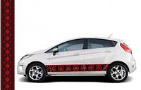 Наклейки на машину Автовышиванка Классическая черная 30х150