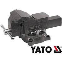 Тиски слесарные  поворотные 100 мм 7 кг тип тяжелый Yato YT-6501