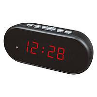 Будильник электронный настольный vst 712-1, выбор сигнала, светодиодные часы для дома и офиса, 220в, 2хааа