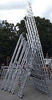Практика Plus усиленная лестница трехсекционная 3 х 14 до 10 метров