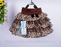Эффектная пышная леопардовая юбка с фатином
