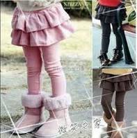 Детские лосины с юбкой утепленные