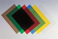 Обложки для переплета-пластиковые прозрачные А4, 180 МКМ, 100шт, ассорти