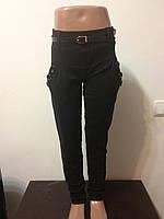 Детские брюки черные для девочек