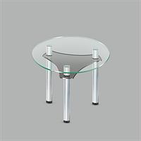 Стеклянный обеденный стол Kolo C-G MET