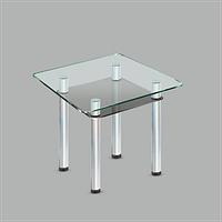 Стеклянный обеденный стол Kvadro C-G MET