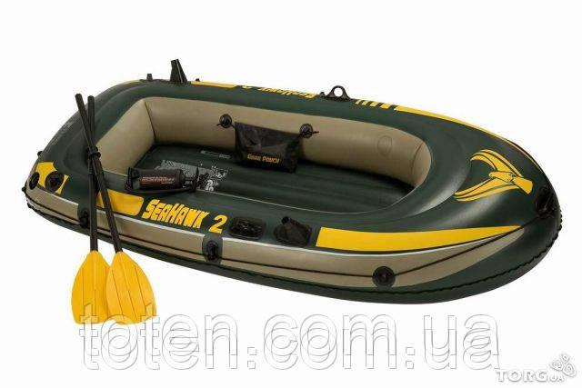 гребная надувная лодка intex seahawk 1 68345