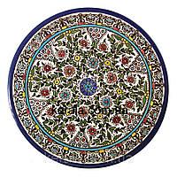 Керамическая тарелка с цветами