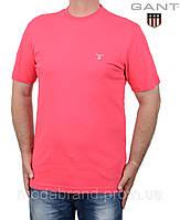Футболка мужская однотонная Gant-032,розовая