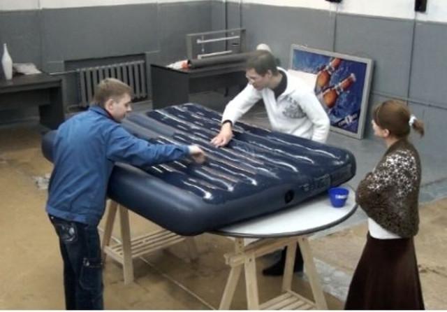Надувной матрас ремонт