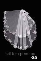 Свадебная фата- компьютерная вышивка №02