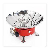 Газовая горелка WILD HM 166-L7 пьезо, чехол, компактная, для отдыха, сменные баллоны, потребляемость- 100г/ ч