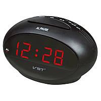 Настольный будильник vst 711-1, красная подсветка цифр, светодиодные, электронные часы, 220в