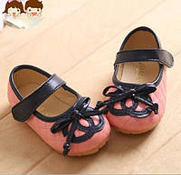 Детские летние туфли CHANEL с бантиком