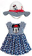 Детское летнее платье Minnie Mause с шляпой