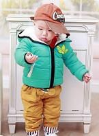 Детская демисезонная куртка Adidas бирюзовая