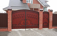 Ворота с художественной ковкой