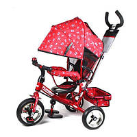 Детский трехколесный велосипед красный, усиленная двойна М 5363-5 Profi Turbo Trike (М 5363-5)
