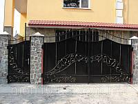 """Ворота кованые, """"растительный"""" орнамент (MD-VKR-004)"""